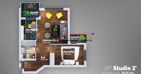 Apartament 2 camere de Olympus Residence 2