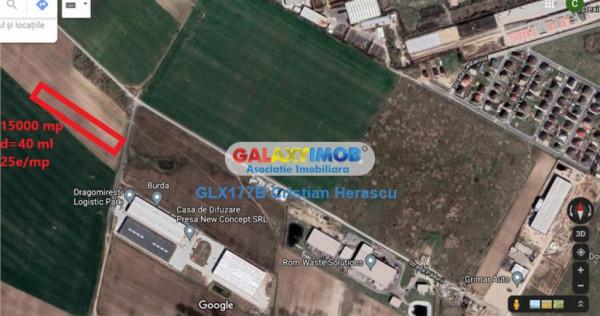 Teren 15000 mp industrial Chitila str Padurii
