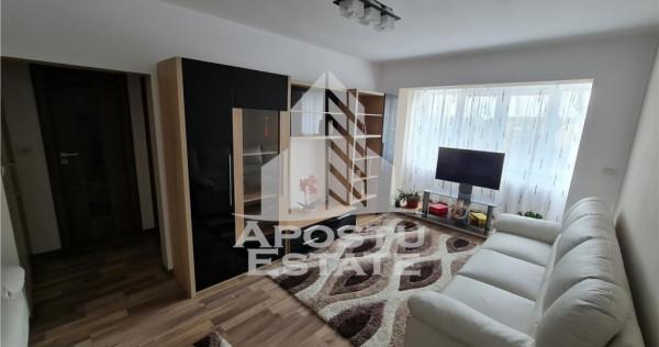 Apartament amenajat Lux, 2 camere, zona Stadion, etaj interm