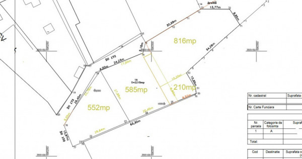 Teren pentru casa in Ghermanesti - Snagov 585 mp