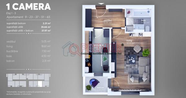 Garsoniera-Sector 4-Grand Arena-Mutare Rapida-Direct