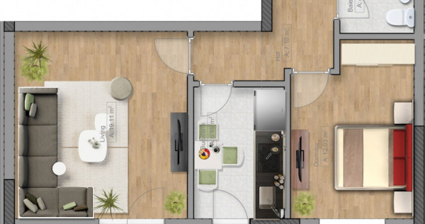 Apartament 2 camere decomandat. Langa centru