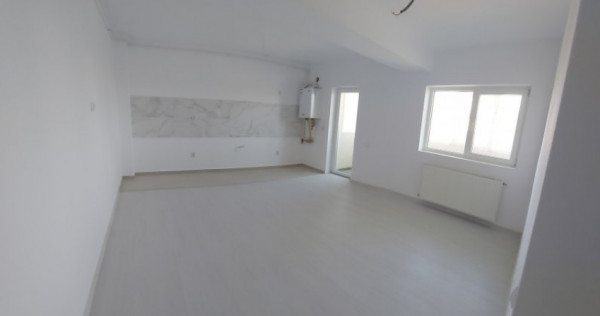 Garsoniera, finisaje moderne si bucatarie open space, baie-B