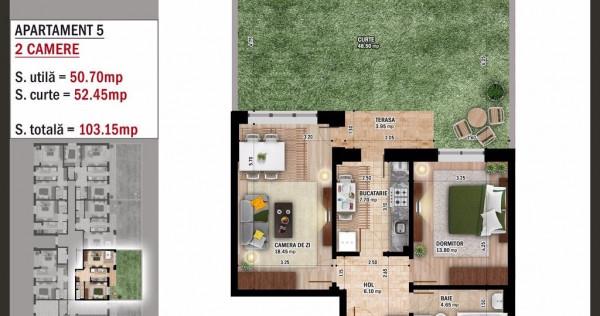 Apartament 2 Camere + Gradina - Popesti-Leordeni - Cozy