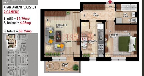 Apartament 2 cam de Soseaua Leordeni-Popesti-Promotie